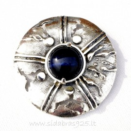 Brooch with stone Cat's eye S500