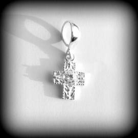 Pendant cross with Zirconium P649