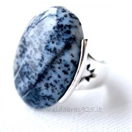 Ring with agate Ž154-2