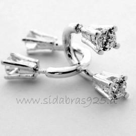 """Earrings with Zirconia """"Rageliai"""""""