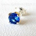 Earrings with bright blue Zirconium A252-M