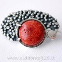 Brooch with Coral S466