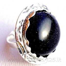 Ring with Night Stone Ž543