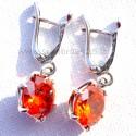 Earrings with orange Zirconium A101
