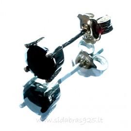 Earrings with black Zirconium A252