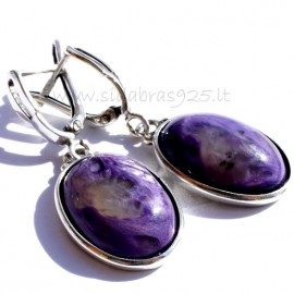 Earrings with Charoite A515