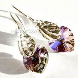 "Earrings with Swarovski crystal ""Heart"""