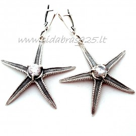 """Earrings with Zirconia """"Sea Star"""" A320"""