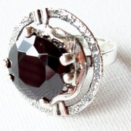 Ring with black Zirconia Ž359