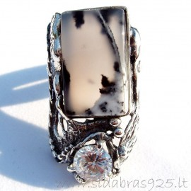 Ring with Agate and ZirconiumŽ422