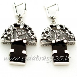 Earrings with Onyx A507