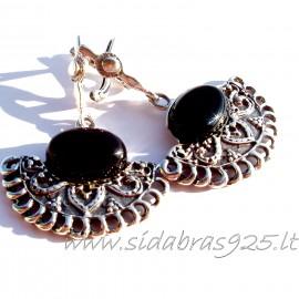 Earrings with sin.Oniksu A355