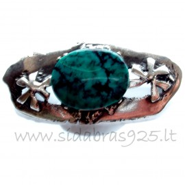 Brooch with turquoise stone S458