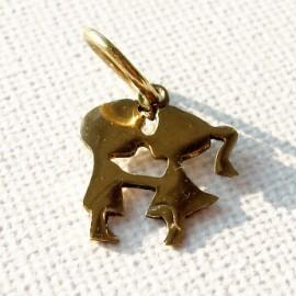 """Brass pendant """"Kiss"""" ŽP019"""