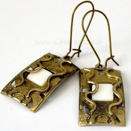 Brass earrings ŽA339