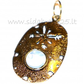 Brass pendant with Moonstone ŽP545