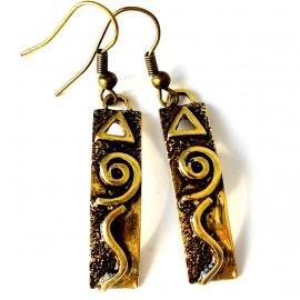 Brass earrings ŽA058