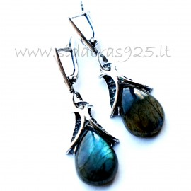 Earrings with Labradorite A486