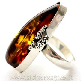 Sold Out Unique jewelry ring with Amber