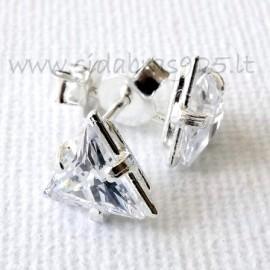 "Earrings with Zirconia ""Triangle"""