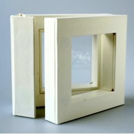 """Gift Box """"Frames 3D"""" TW 01 white 50x50"""