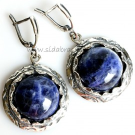 Earrings with Sodalite A543
