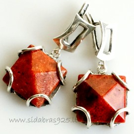 Earrings with Coral A440
