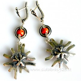 Earringswith natural coral A569