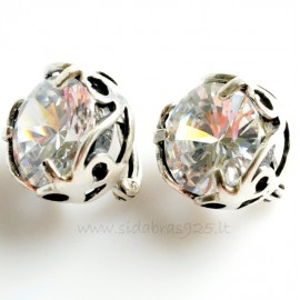 Earrings with Zirconia A711