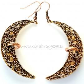 """Bronze earrings """"Mėnuliai su variu"""""""