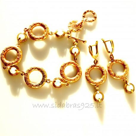 """Bronze jewellery set """"Gold hoops"""""""