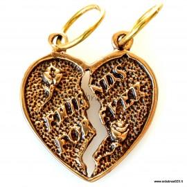 """Bronze pendant """"Friends forever""""BP667"""