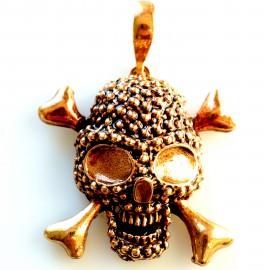 """Bronze pendant """"Skull"""""""