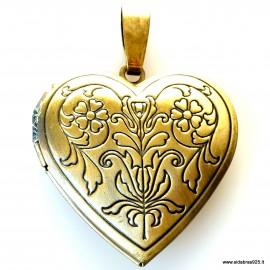 """Brass pendant """"Heart""""2"""