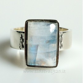 """Unique jewelry Ring with natural Moonstone """"ŽD4"""""""