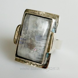 """Unique jewelry Ring with natural Moonstone """"ŽDD4"""""""