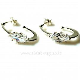 """Earrings with Zirconia """"Markyzė"""""""