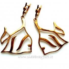 "Bronze earrings BA ""Žuvys"""