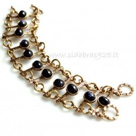 Bronze bracelet Nakties akmeniu BAP446