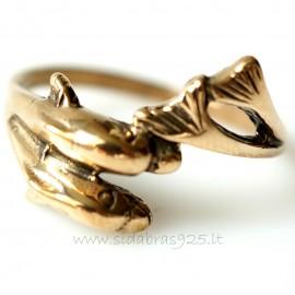 "Bronze ring BŽ ""Delfinai"""