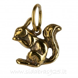 "Brass pendant ""Squirrel"" ŽP018"