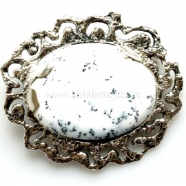 Brooch with Landscape Agate S499