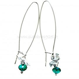 "Earrings with Swarovski ""Ribbon"""