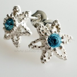 Earrings with heavenly colored Swarovski