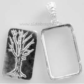 Pendant with Ag 999˚ plate