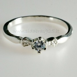 Ring with Zirconia Engagement Ž732