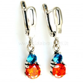 "Earrings with Zirconia ""Felicite"""