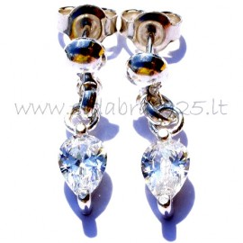 """Earrings with Zirconia """"Droplets"""""""