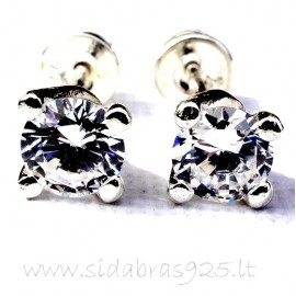 Earrings with Zirconia A253