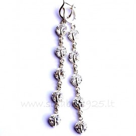 Earrings with White Zirconia D 5